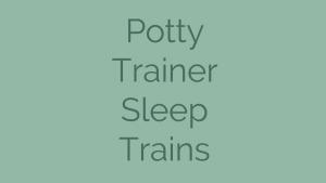 Potty Trainer Sleep Trains