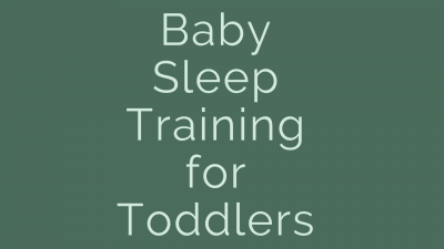 baby sleep training for toddlers