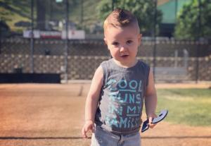 small boy at playground