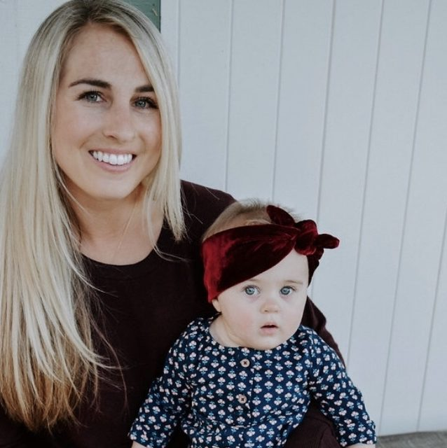 blonde haired mom and baby girl