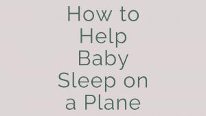 how to help baby sleep on a plane