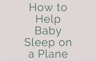 how to help baby sleep on a plane